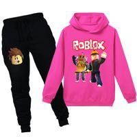 Teen girl 6-14 anni ragazzi vestito tuta tuta 2 pz bambini abbigliamento set moda primavera autunno autunno bambini manica lunga top pantaloni