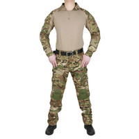 Tactical Camouflage Uniform Clothes Suit Men US Army Multica...