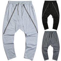Designer Mens Pants Straight Hip Hop Long Trousers Males Loo...