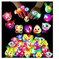 LED yumuşak tutkal flaş ifadesi Halka Aydınlık halka çocuk karikatür parmak ışık Oyuncak LED flaş halka Parti doğumgünü hediye açtı