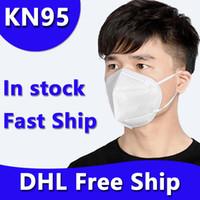 DHL Free Ship Jetable KN95 Masque de visage Masque non tissé Masques à ventouse anti-poussière anti-poussière anti-poussière masques d'extérieur anti-poussière
