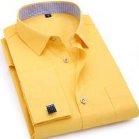 newest 4078b 529ca Vendita all'ingrosso di sconti Camicie Gialle Mens Business ...