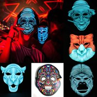 50 Pcs Nouveau LED Son Réactif Masque Son Actif Street Dance Rave EDM Glowing CosplayParty Masque (sans batterie)