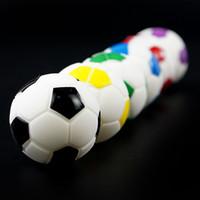 Minis antiaderente futebol frascos de silicone Food Grade Silicone contêineres em forma de bola caixa de armazenamento Herbal vaporizador de vidro Bong acessórios