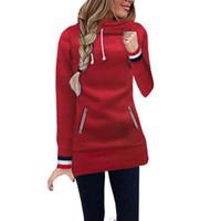 ROPALIA Autunno Inverno Donna Felpe con cappuccio da donna Casual tasche lunghe a maniche lunghe con cappuccio Felpa Pullover donna Outwear