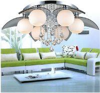 K9 كريستال الحديثة Colrful LED ضوء الثريا مصباح ديكو المنزل زجاج الكرة LED الثريا ضوء الثابت تحكم النائية