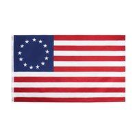 أمريكا بيتسي روس العلم البوليستر 90 * 150CM 13 نجمة USA الأمريكية بيتسي روس العلم للديكور في الهواء الطلق أدوات ZZA1132