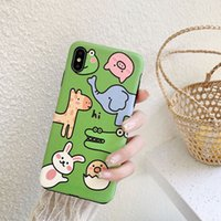 Suitable for iphone11 pro max cute cartoon green zoo mobile ...