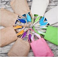 Regalo Candy bambini Easter Bunny Bag Benne Rabbit Ears sacchetto del cestino dei capretti DIY borsa Bambino Festival Orecchie da coniglio Borse Put Easter Eggs D19