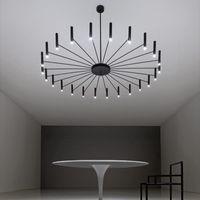 Дизайн Art LED люстры Гостиная Спальня Ресторан LED подвеска лампа Фойе Light Home Deco Подвесной осветительный прибор светильнике
