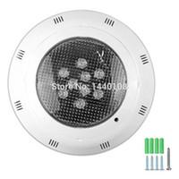 10 pz / lotto 6 * 1W 9 * 1W Swiming Pool Light IP68 12V Outdoor RGB Luci subacquee per fontane impermeabili LED Piscina Pond Lighting