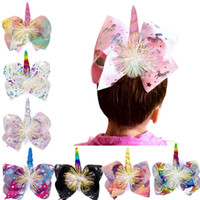 Large Colorful Bow Hairpin Rainbow Love Unicorn Cute Barrett...