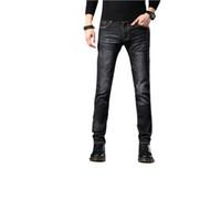 Tasarımcı skinny jeans erkek düz ince elastik kot erkekler rahat erkek streç kot pantolon klasik Kalem pantolon Boyut 29-36