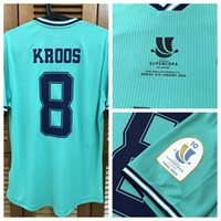 RM 19/20 Match Worn Player Problema Away Camisa Jersey S / S Hazard Modric Sergio Ramos Futebol Nome do Futebol Número Patches Patrocinador