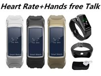 Heart Rate Monitor Wristband Talk Band Smart Bracelet with B...