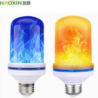Effetto LED Flame Haoxin E27 85-265V lampadina Fuoco Luce gravità sensore cereale lampadine Emulation Decor lampada Dynamic Light 4 modalità creative Lampa