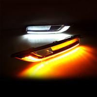 2pcs DRL Conduite éclairage diurne pour Honda CRV CRV 2015 2016 ABS + 15-16 lumière lampe LED brouillard Relais lumière du jour