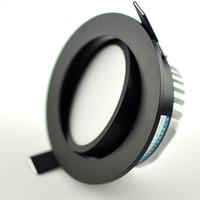 LED-Downlight-Lampe 3W 5W 7W 12W COB-Fleck 220V / 110V Deckeneinbau-Downlights Runder Panel-Licht