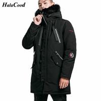 Trenchs de Trenchs de Hommes Qualité Parka Hommes Hiver Jacket longue Habilette Capuche épaisse Coton-rembourré Manche Mase Mode Casual 4XL