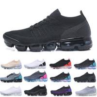 Nike Vapormax flyknit air max airmax 2019 Örgü 2.0 Fly 1.0 Erkek Kadın BHM Kırmızı Orbit Metalik Altın Üçlü Siyah Tasarımcılar Sneakers Eğitmenler Koşu Ayakkabıları US5.5-11