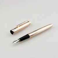 Ag925 18k Golden Metal Fountain Pens Men Gold Cap Ink Pens O...