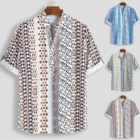 Casual Men' s shirt Summer Hawaiian Mens Loose Multi Col...