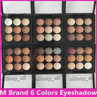 M Marke Makeup Lidschatten-Palette Kit Burgund-Lidschatten X9 Matte Satin Eyes Pro Color 9 Kompakte hochwertige kosmetische DHL-freies Verschiffen
