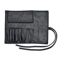 Estuche de pinceles de maquillaje de piel sintética Bolígrafos Bolso para bolsa de tenedor para pinceles de longitud estándar F3127