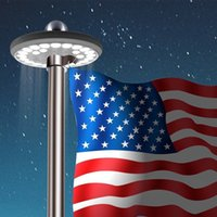 42 LED Solar Flag Pole Licht 7. Gen Light Bright 42 LED solarbetriebene wasserdichte LED USA Solar Flag Licht