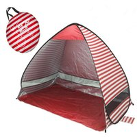 Anti-UV Shade Beach Folding Tents Quick Automatic Opening Family Tourist Camping