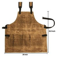 Hot Apron Collector Canvas Oil Wax Cloth Multiple Pockets To...