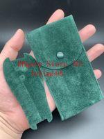 Migliore qualità flanella Custodia protettiva Custodia Guarda verde liscia per 116610 116713 126603 Orologio da tasca verde del regalo del sacchetto di immagazzinaggio superiore