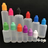 소프트 스타일 PE 니들 병 10ml의 플라스틱 스포이드 병 아이 증거 모자의 LDPE E 액체 빈 병