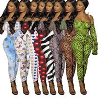 Женщины сексуальный с плеча комбинезон леопардовый комбинезон повседневная боди мода ночной клуб one piece брюки тонкий клубная одежда летняя одежда 2664