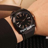 Barato Nuevo Octo Solotempo 41mm PVD Caja de acero negro 102581 BGO41BBSVD Negro Reloj de cuarzo suizo para hombre Relojes deportivos de caucho blanco Pure_Time