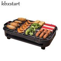 Kbxstart الرئيسية المحمولة دخاني الكهربائية شواء هوت دوج Churrasqueira Eletrica الكورية المشواة الشواء مطعم معدات