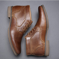 Chaussures Hommes Robe Oxford bottes Modern Classic Formal Lace Up Robe Chaussures Party chaussures de mariage en cuir véritable avec boîte Taille 39-46