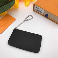 designer wallet with zipper purses high quality fashion key pouch for women Key Ring Credit Card Holder Coin Purses Luxury Mini Wallet Bag