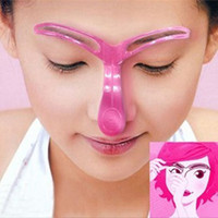 4 1pcs Reusable Women Eyebrow Shaper Stencil Eye Shaping Dra...
