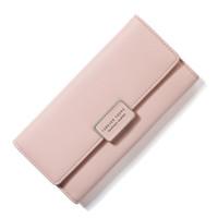 Frau lange PU-Leder Brieftasche Mode Button Kupplungsbeutel Kreditkarteninhaber Geldbörse Frauen Handtaschen
