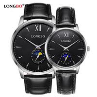 2020 Longbo Marka Lüks Kısaca Tasarım Analog Saatler Çift Erkekler Kadınlar Su geçirmez izle montres tasarımcısı de 5008 hommes dökmek