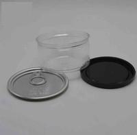 Травы табака четкие пластиковые PET TIN могут упаковывать коробку барной коробки POP-TOP CALi с легким открытым концом дочерняя крышка крышки пользовательской этикетки 66 (d) x33 (h) мм