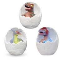 16 cores 3D Dinosaur Egg Night Light Com Luz do dinossauro remoto Egg Desk Mesa de Luz crianças Baby Kids Toy presente