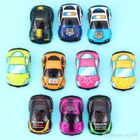 35pcs / lot cartoon leksaker söt plast dra tillbaka bilar leksak bilar för barn hjul mini bil modell roliga barn leksaker för pojkar tjejer
