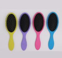 Dropshipping Heißnass Trockene Haarbürste Original Detangler Haarbürste Massagekamm mit Airbags Kämme für Nasse Haarduschbürste