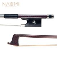 NAOMI del arco de violín 4/4 fibra de carbono de arco para violín 4/4 tamaño completo W / Paris Ojos del arco de violín de piezas Accesorios Nuevo