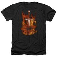Geschmiedete In Fire Fernsehserie Schwert In Fire Lizenzierte Adult Heather T-Shirt Alle Größen Cotton Confortable Tops T-Shirt