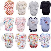 Baby Säuglinge Kleinkind Cartoon Overall Langarm Strampler Nette Tiere Drucken Baumwolle Kleidung Kurze Spielanzug Jungen Mädchen Insgesamt Tuch E8602