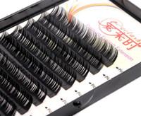 50set volumen natural extensión de la pestaña de las pestañas falsas pestañas del individuo maquillaje herramienta Corea fibra 4 bandejas B C D Curl 8-15 mm X 201