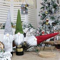 Neue Weihnachts Faceless Puppe Weinflasche Fall Nordic Land Gott Weihnachtsmann Champagner Weinflasche Abdeckung neue Jahr-Dekoration